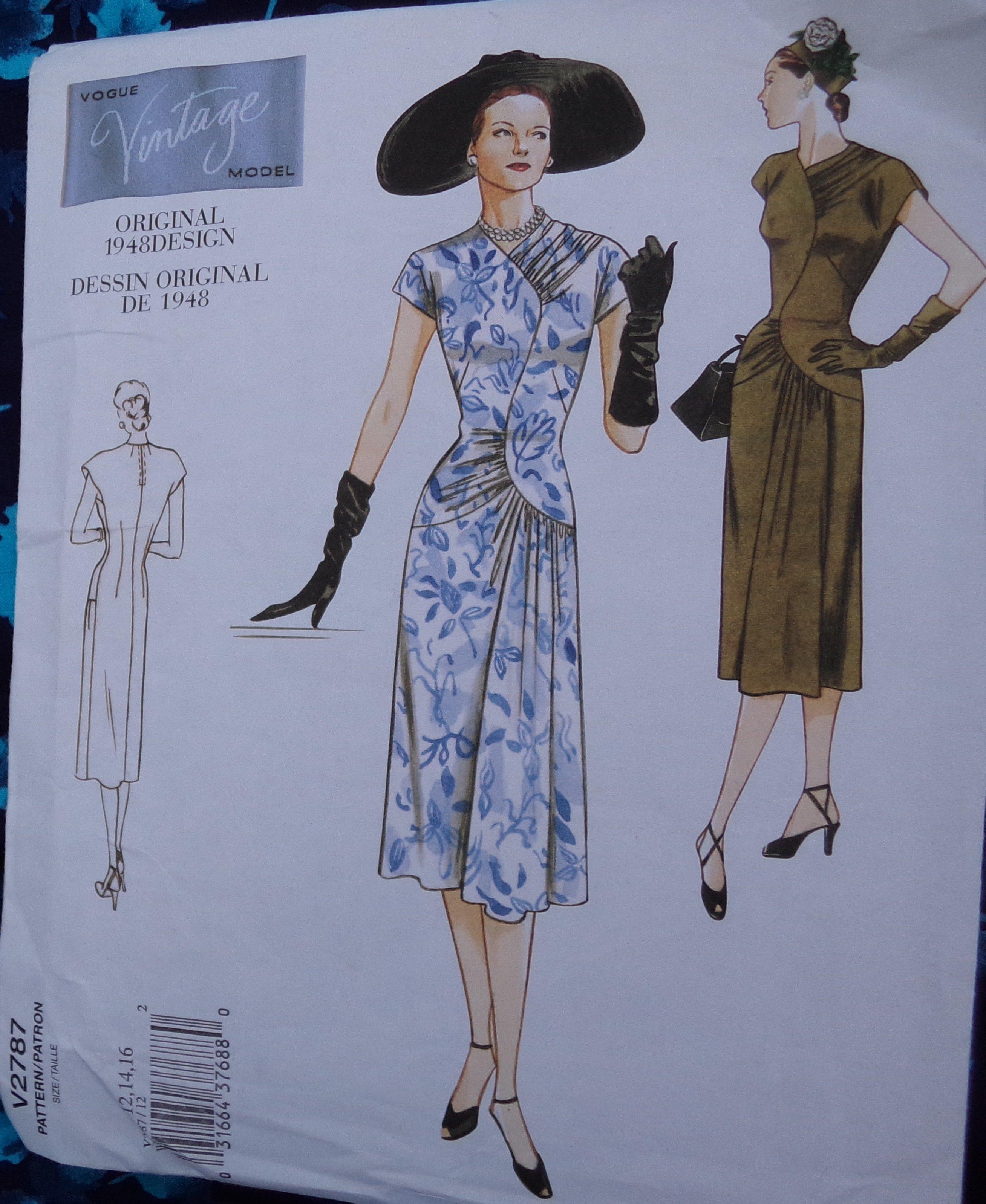 THAT blue dress Vogue 2787 pattern envelope