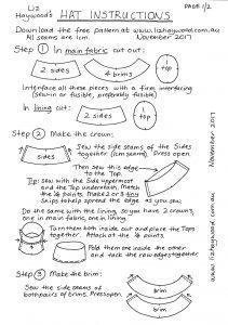 Free Pattern Make a Hat Instructions page 1
