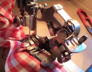 Ruffler Attachment attachment installed on machine