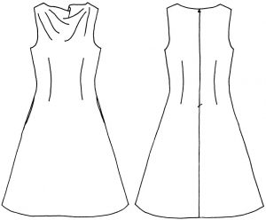 Cowl Neck Dress in a Day