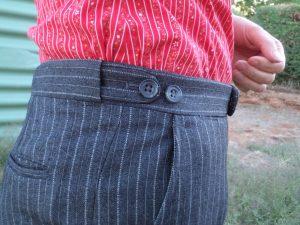 The Aquascutum suit trouser waist