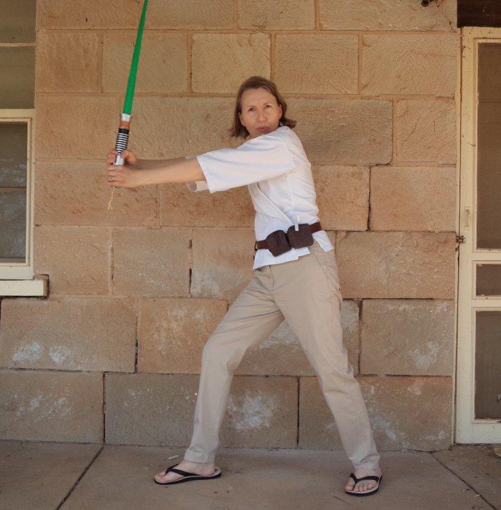 The Haywoods do Fancy Dress Luke Skywalker