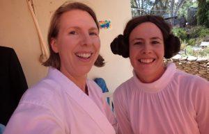 The Haywoods do Fancy Dress Luke and Leia