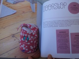 Book review Makery books doorstop project