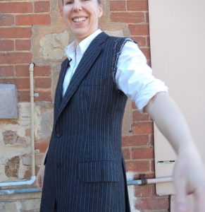 The Aquascutum Suit with alterations sewn in