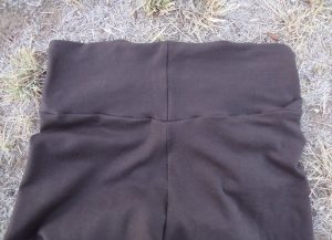 Zero waste leggings back waistband