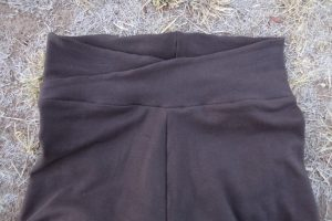 Zero waste leggings front waistband