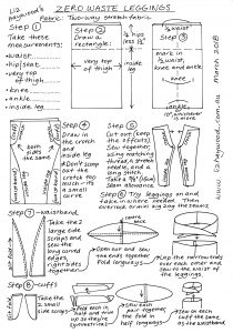 Zero waste leggings instructions