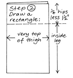 Zero waste leggings instructions step 2