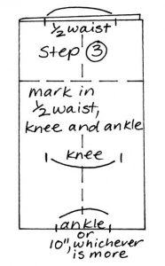 Zero waste leggings instructions step 3