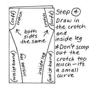 Zero waste leggings instructions step 4
