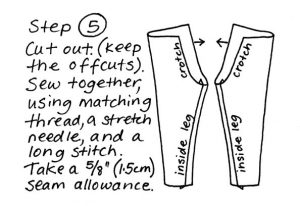 Zero waste leggings instructions step 5