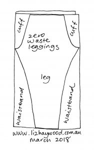 Zero waste leggings sketch