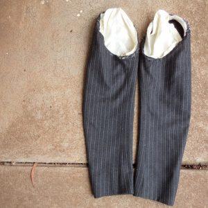 The Aquascutum Suit unpicked sleeves