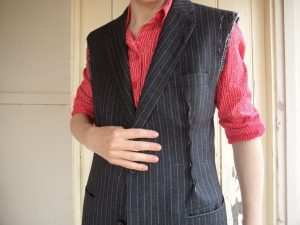 The Aquascutum Suit pinned ready to sew