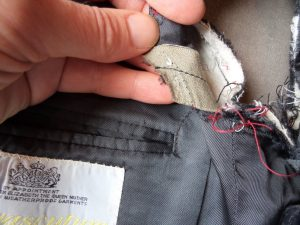 The Aquascutum Suit jet pocket reinforcing revealed