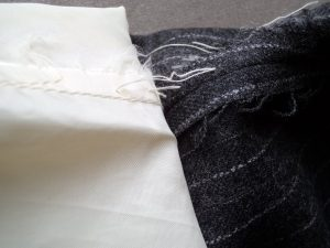 The Aquascutum Suit sleeve lining tacking