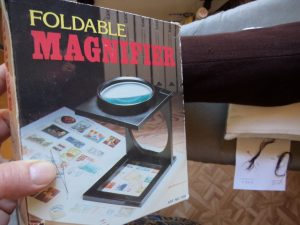 The Secret Sciene of Invisible Mending folding magnifier