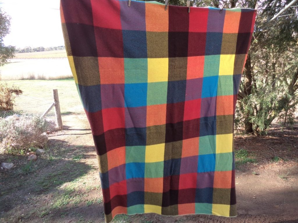 My sewing bucket list Checked blanket
