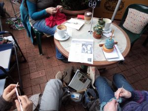 Knitting in Public knitters