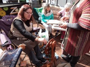 Knitting in Public spinning