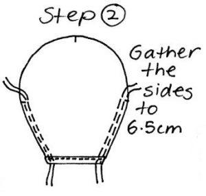 Free pattern Headscarf Step 2 sewing