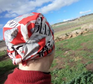Free pattern Headscarf back view