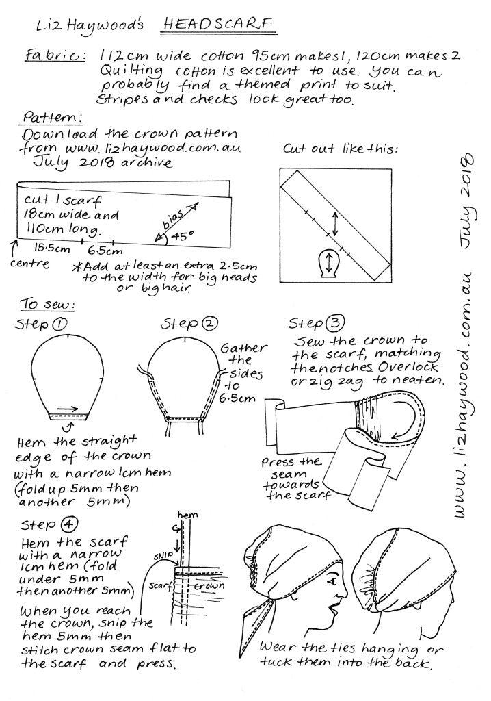 Free pattern Headscarf draft