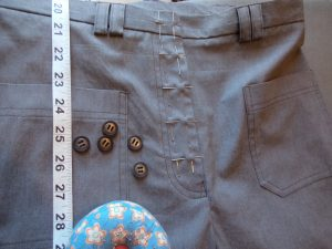 The other trousers marking buttonholes
