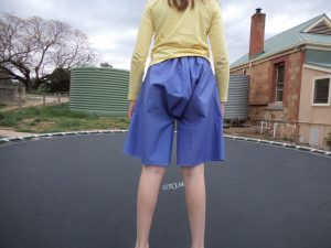 The experimental shorts The crushing verdict Back view