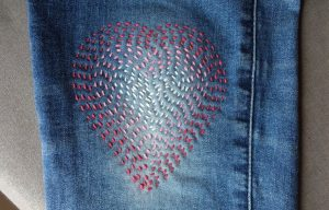 Visible mending heart finished