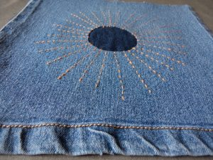 Visible mending orange sunrays finished
