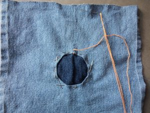 Visible mending orange sunrays pinned