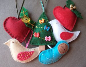 Free Pattern Crafting Christmas deccys