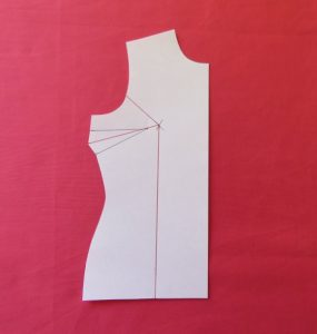 Small Bust Adjustment Front cut lines