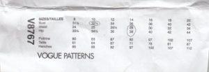 Small Bust Adjustment Pattern envelope