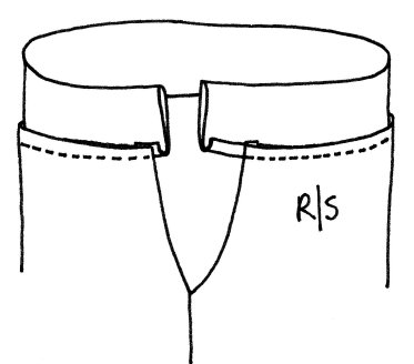 Introducing the Double Fold Waistband Sewing Step 2