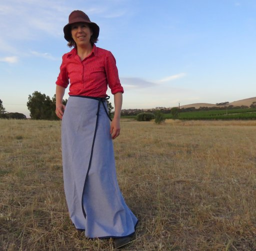 Free pattern 3 gore wrap maxi skirt 3
