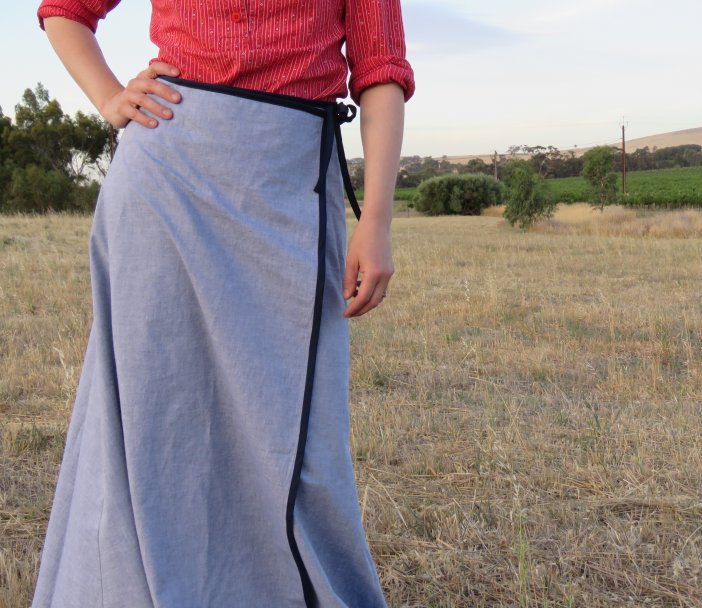 Free pattern 3 gore wrap maxi skirt