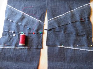 Zero waste jeans knee patches
