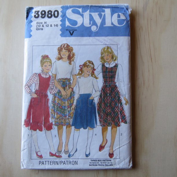 A lifetime of sewing patterns 1980s children 2
