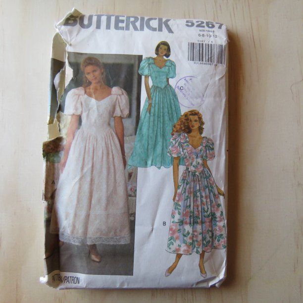 A lifetime of sewing patterns 1980s prom dresses 2