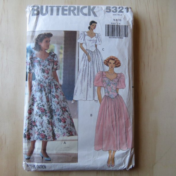 A lifetime of sewing patterns 1980s prom dresses 3