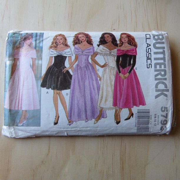 A lifetime of sewing patterns 1980s prom dresses 5
