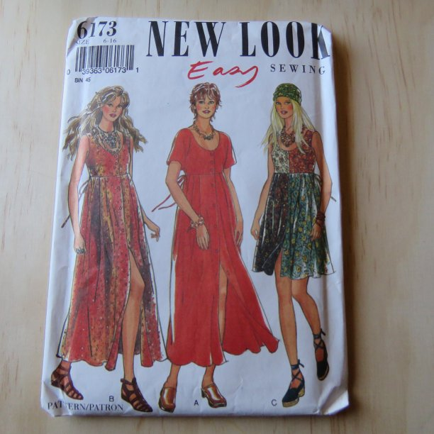 A lifetime of sewing patterns 1990s ladies 4 New Look grunge
