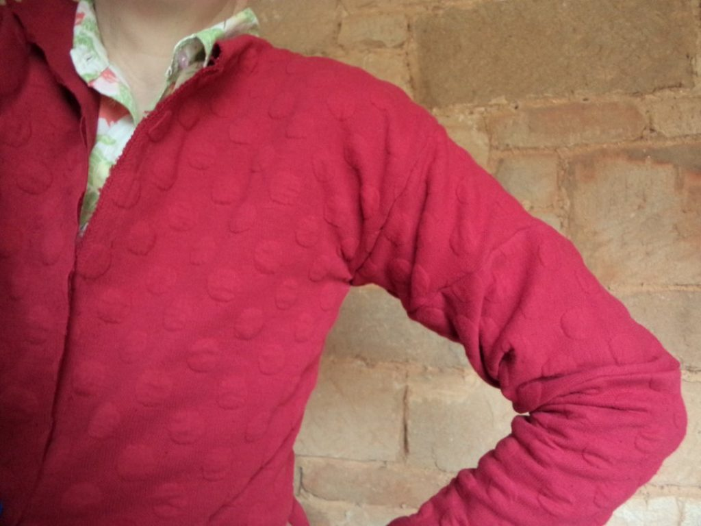 Conclusion of the hug me tight experiment maroon cardi sleeves 4