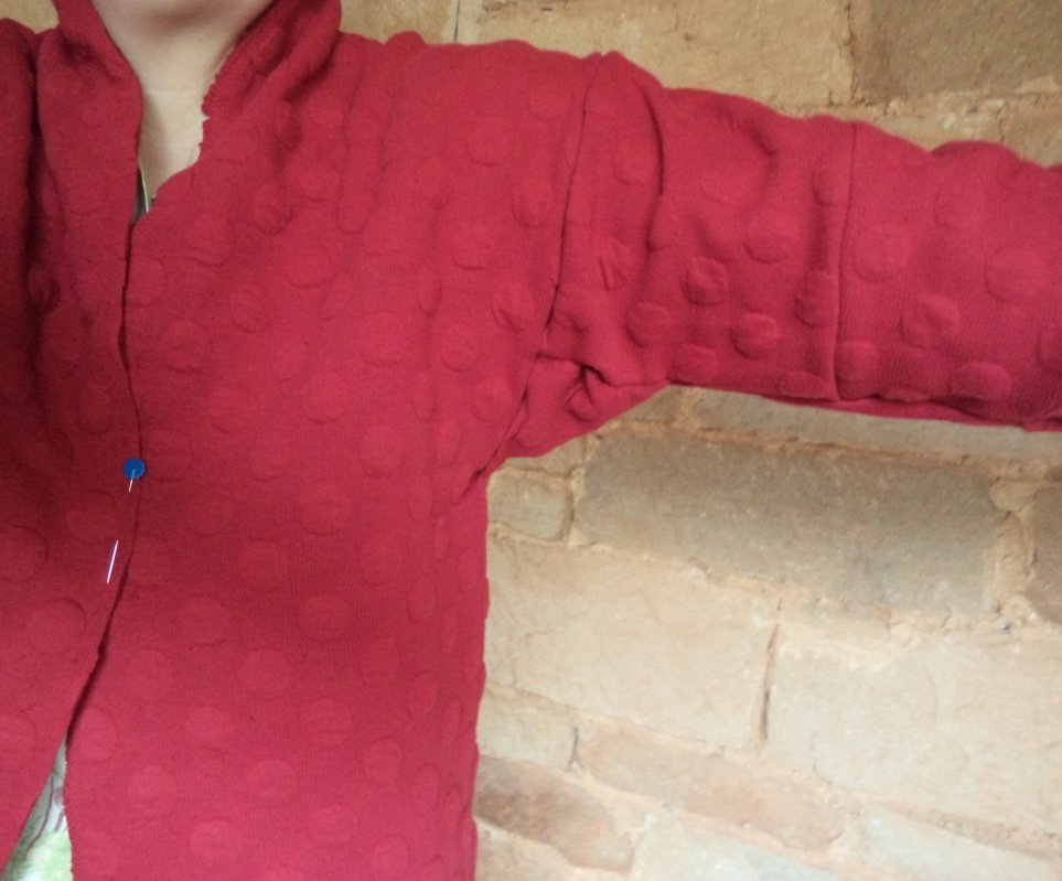 Conclusion of the hug me tight experiment maroon cardi sleeves 5