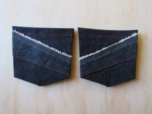 zero waste jeans back pockets