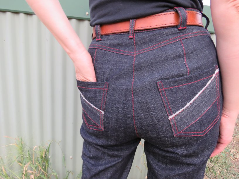 zero waste jeans back view
