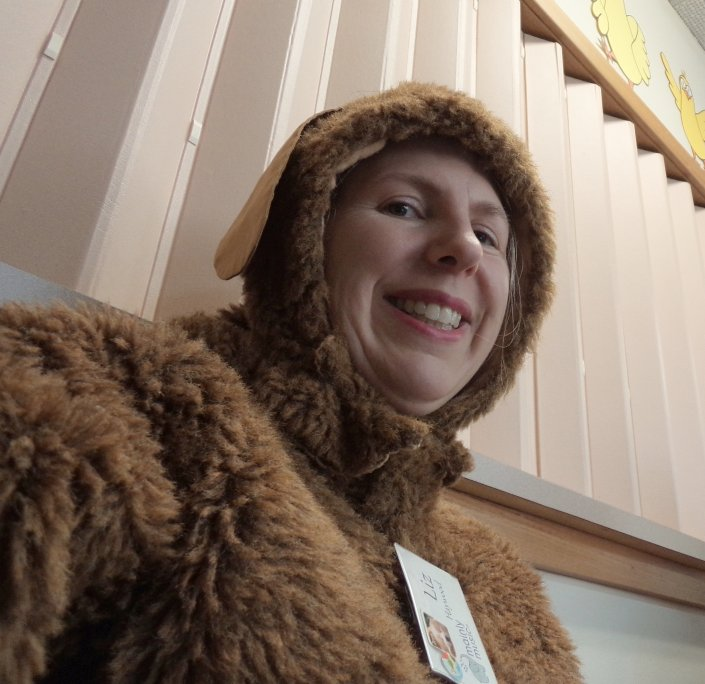 Must have dress ups The bear costume at playgroup